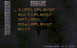 Fodquake main menu